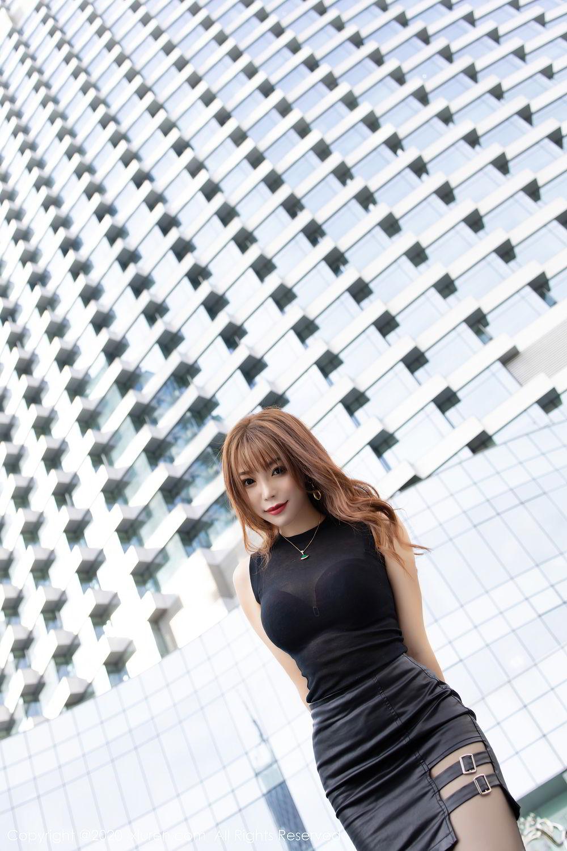 [XiuRen] Vol.2445 Zhi Zhi Booty 18P, Black Silk, Chen Zhi, Sexy, Street, Xiuren
