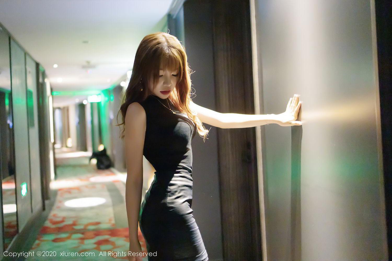 [XiuRen] Vol.2445 Zhi Zhi Booty 1P, Black Silk, Chen Zhi, Sexy, Street, Xiuren