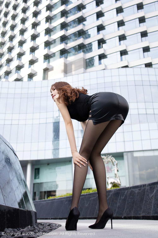 [XiuRen] Vol.2445 Zhi Zhi Booty 20P, Black Silk, Chen Zhi, Sexy, Street, Xiuren