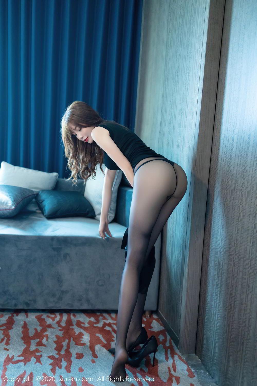 [XiuRen] Vol.2445 Zhi Zhi Booty 28P, Black Silk, Chen Zhi, Sexy, Street, Xiuren