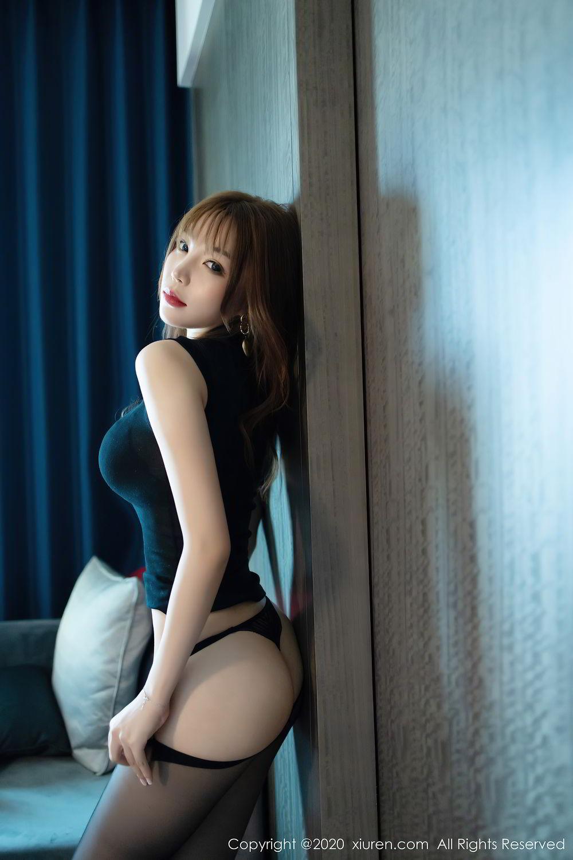 [XiuRen] Vol.2445 Zhi Zhi Booty 29P, Black Silk, Chen Zhi, Sexy, Street, Xiuren