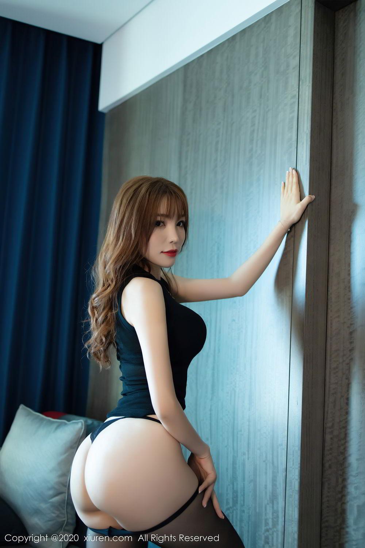 [XiuRen] Vol.2445 Zhi Zhi Booty 30P, Black Silk, Chen Zhi, Sexy, Street, Xiuren
