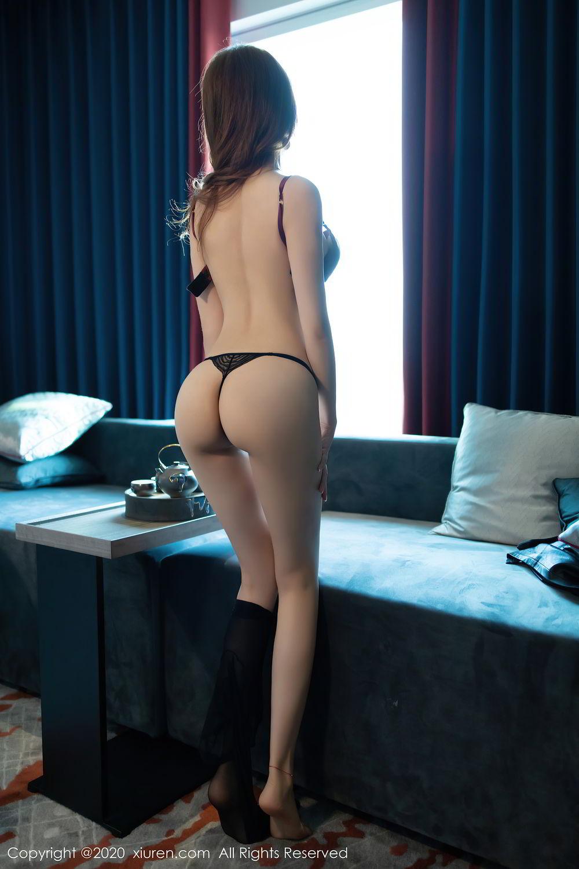 [XiuRen] Vol.2445 Zhi Zhi Booty 36P, Black Silk, Chen Zhi, Sexy, Street, Xiuren