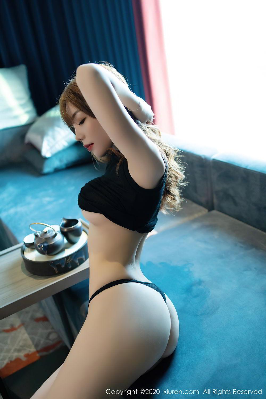 [XiuRen] Vol.2445 Zhi Zhi Booty 39P, Black Silk, Chen Zhi, Sexy, Street, Xiuren