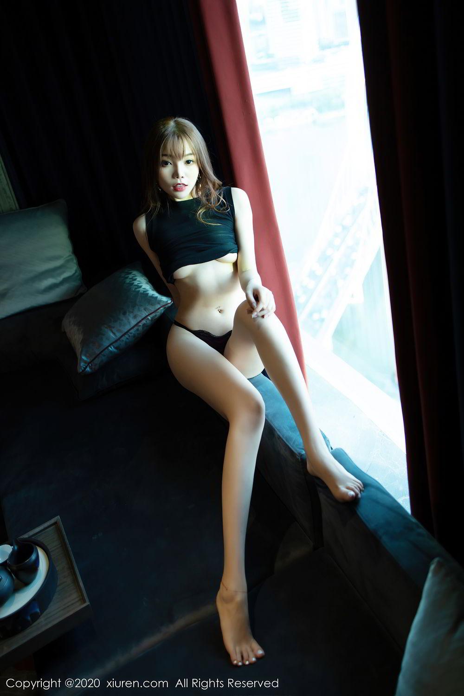 [XiuRen] Vol.2445 Zhi Zhi Booty 42P, Black Silk, Chen Zhi, Sexy, Street, Xiuren