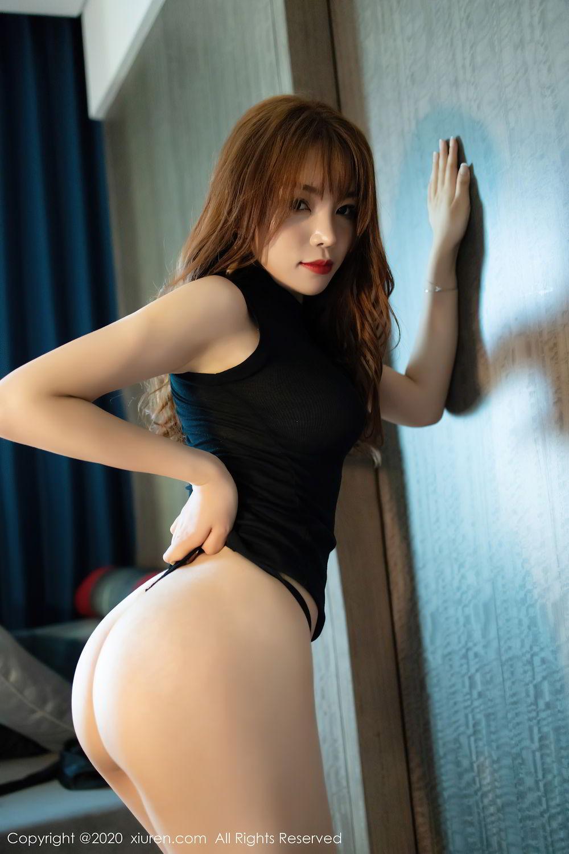 [XiuRen] Vol.2445 Zhi Zhi Booty 44P, Black Silk, Chen Zhi, Sexy, Street, Xiuren
