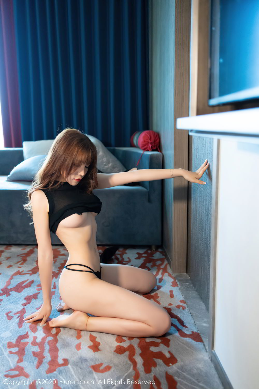 [XiuRen] Vol.2445 Zhi Zhi Booty 50P, Black Silk, Chen Zhi, Sexy, Street, Xiuren