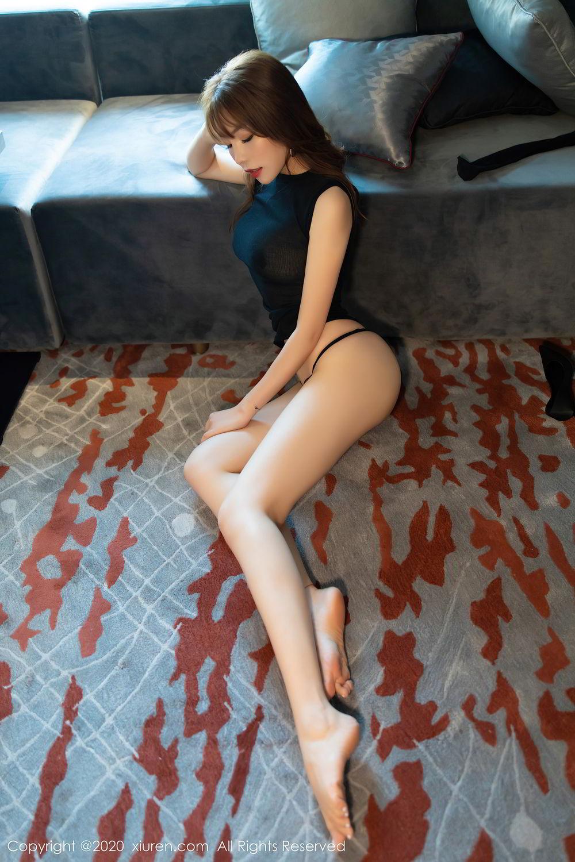 [XiuRen] Vol.2445 Zhi Zhi Booty 58P, Black Silk, Chen Zhi, Sexy, Street, Xiuren