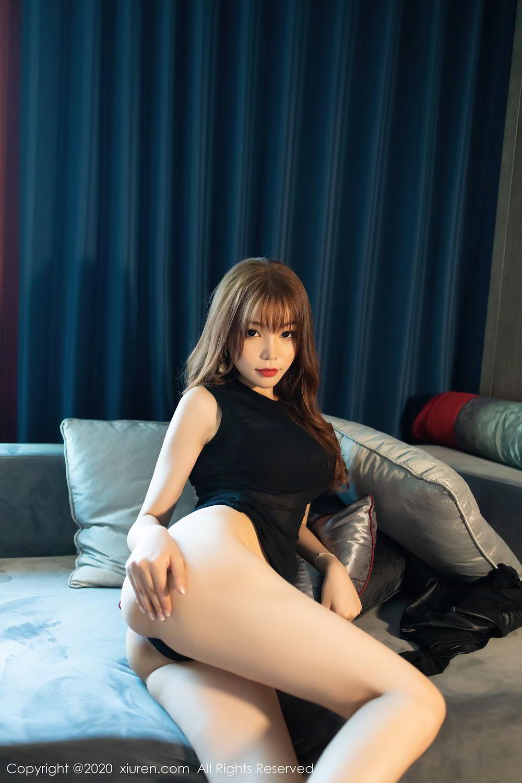 [XiuRen] Vol.2445 Zhi Zhi Booty 59P, Black Silk, Chen Zhi, Sexy, Street, Xiuren