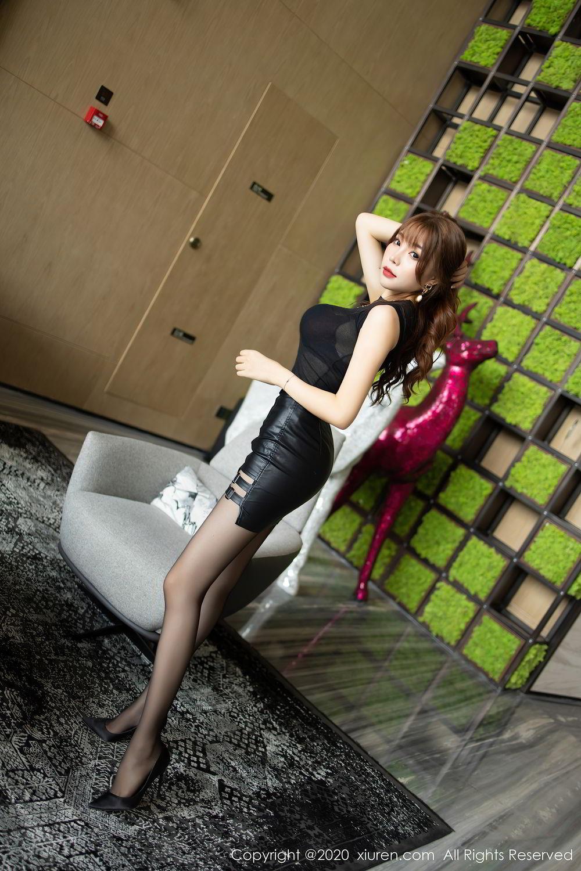 [XiuRen] Vol.2445 Zhi Zhi Booty 6P, Black Silk, Chen Zhi, Sexy, Street, Xiuren