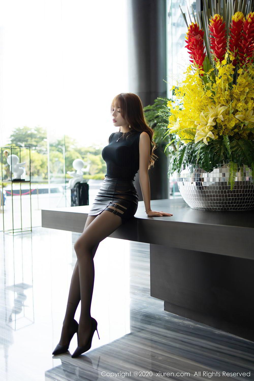 [XiuRen] Vol.2445 Zhi Zhi Booty 7P, Black Silk, Chen Zhi, Sexy, Street, Xiuren