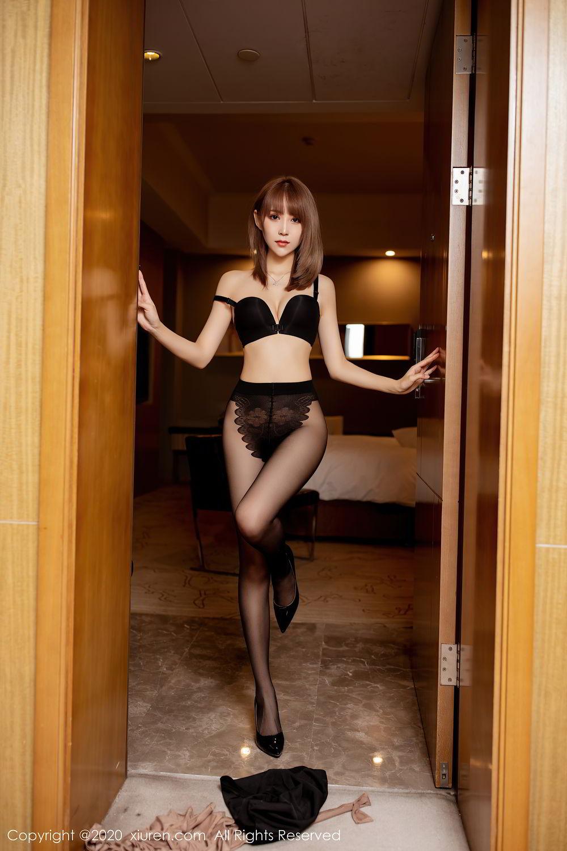 [XiuRen] Vol.2462 Zhou Mu Xi 28P, Black Silk, Slim, Xiuren, Zhou Mu Xi