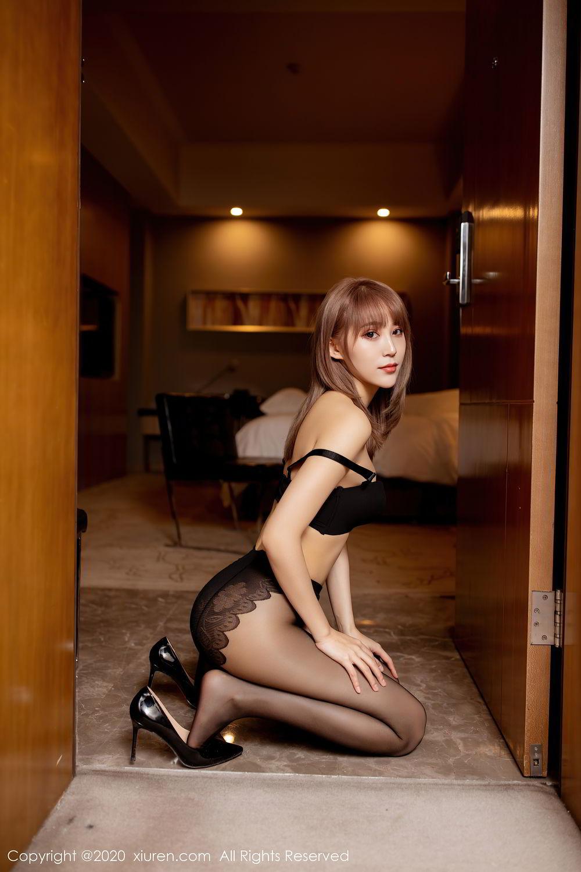 [XiuRen] Vol.2462 Zhou Mu Xi 42P, Black Silk, Slim, Xiuren, Zhou Mu Xi
