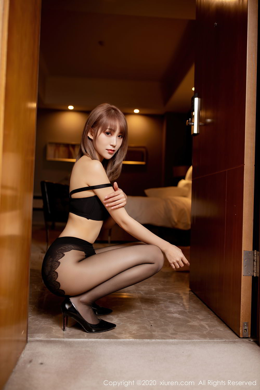 [XiuRen] Vol.2462 Zhou Mu Xi 43P, Black Silk, Slim, Xiuren, Zhou Mu Xi