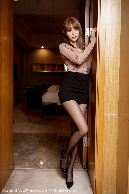[XiuRen] Vol.2462 Zhou Mu Xi 9P, Black Silk, Slim, Xiuren, Zhou Mu Xi