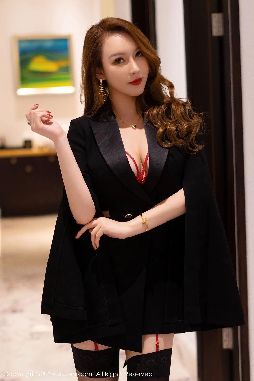 [XiuRen] Vol.2472 Egg Younisi 12P, Black Silk, Egg Younisi, Mature, Underwear, Xiuren