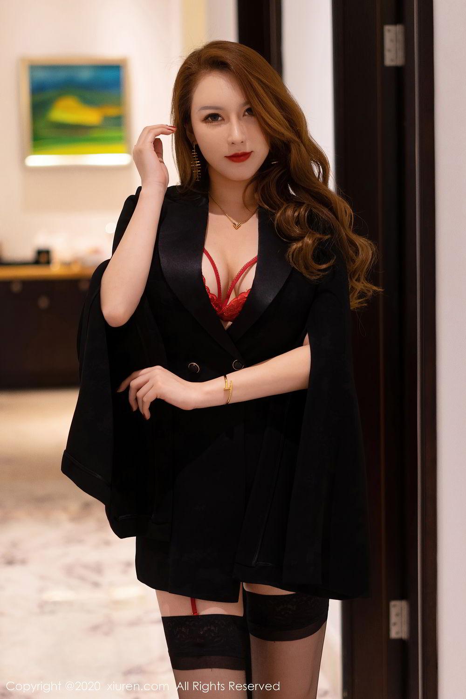 [XiuRen] Vol.2472 Egg Younisi 1P, Black Silk, Egg Younisi, Mature, Underwear, Xiuren