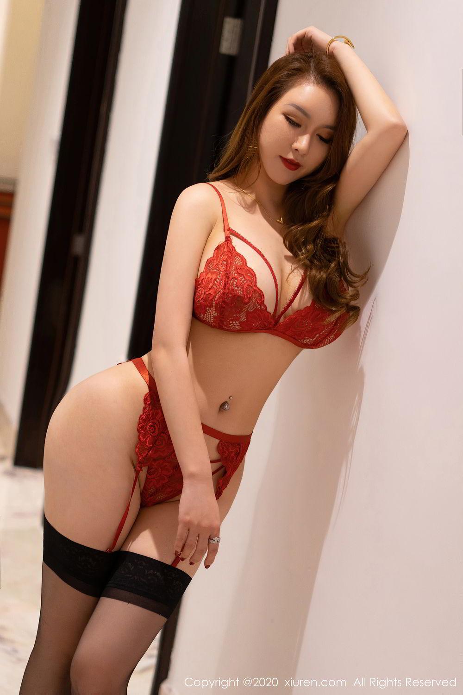 [XiuRen] Vol.2472 Egg Younisi 30P, Black Silk, Egg Younisi, Mature, Underwear, Xiuren