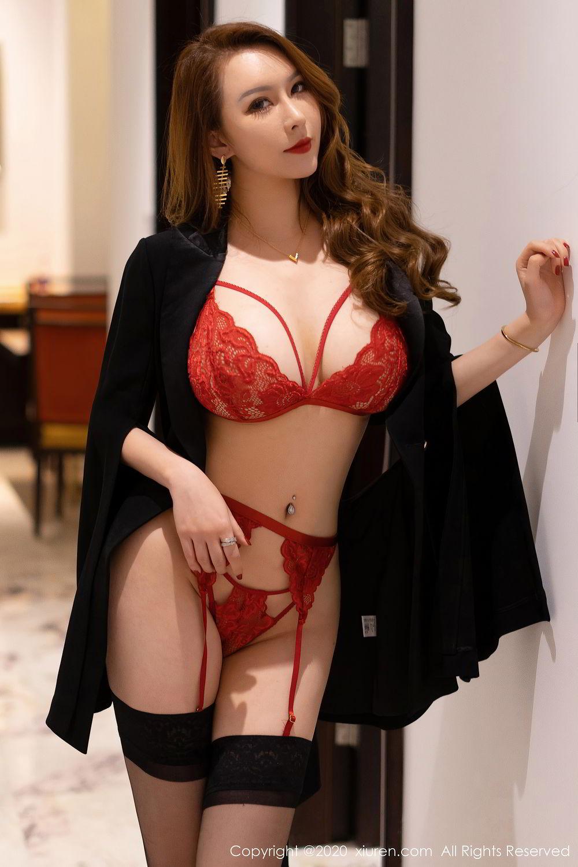 [XiuRen] Vol.2472 Egg Younisi 34P, Black Silk, Egg Younisi, Mature, Underwear, Xiuren