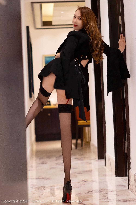 [XiuRen] Vol.2472 Egg Younisi 3P, Black Silk, Egg Younisi, Mature, Underwear, Xiuren