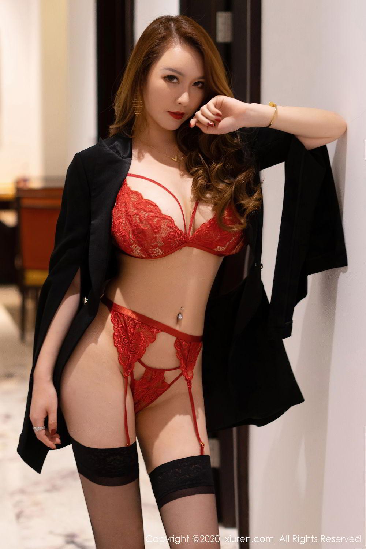 [XiuRen] Vol.2472 Egg Younisi 45P, Black Silk, Egg Younisi, Mature, Underwear, Xiuren
