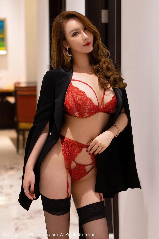 [XiuRen] Vol.2472 Egg Younisi 47P, Black Silk, Egg Younisi, Mature, Underwear, Xiuren