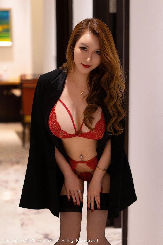 [XiuRen] Vol.2472 Egg Younisi 48P, Black Silk, Egg Younisi, Mature, Underwear, Xiuren