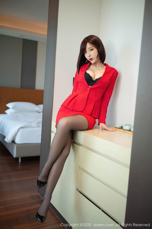[XiuRen] Vol.2480 Chen Xiao Miao 1P, Black Silk, Chen Xiao Miao, Underwear, Xiuren