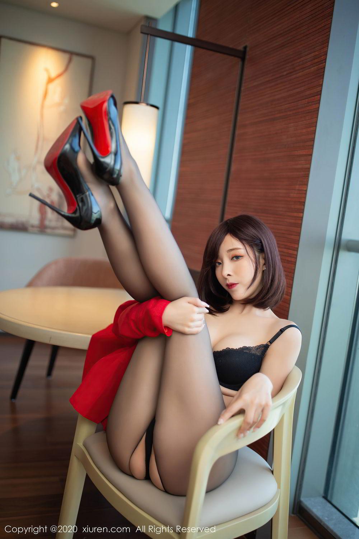 [XiuRen] Vol.2480 Chen Xiao Miao 25P, Black Silk, Chen Xiao Miao, Underwear, Xiuren