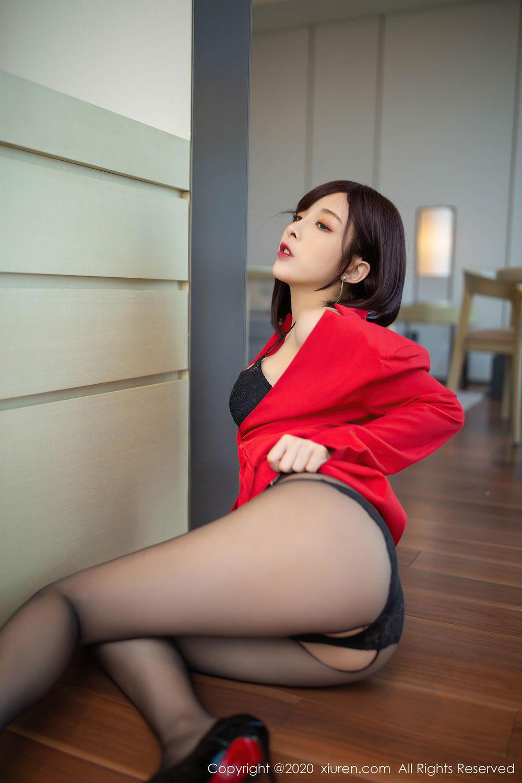[XiuRen] Vol.2480 Chen Xiao Miao 2P, Black Silk, Chen Xiao Miao, Underwear, Xiuren