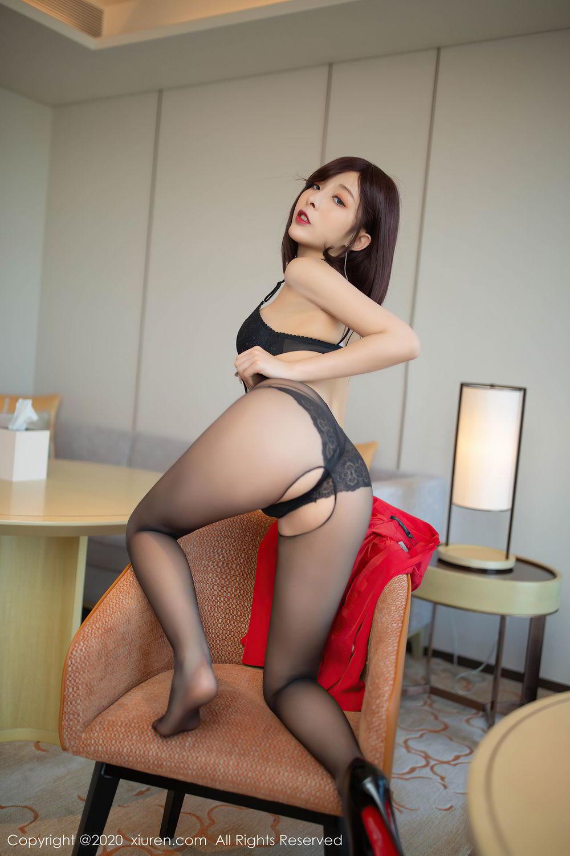 [XiuRen] Vol.2480 Chen Xiao Miao 30P, Black Silk, Chen Xiao Miao, Underwear, Xiuren