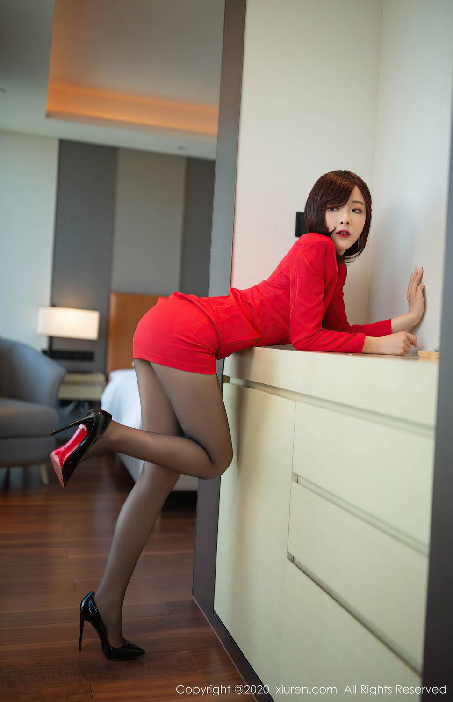 [XiuRen] Vol.2480 Chen Xiao Miao 34P, Black Silk, Chen Xiao Miao, Underwear, Xiuren