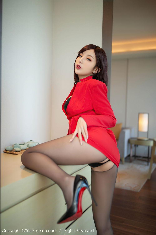 [XiuRen] Vol.2480 Chen Xiao Miao 45P, Black Silk, Chen Xiao Miao, Underwear, Xiuren