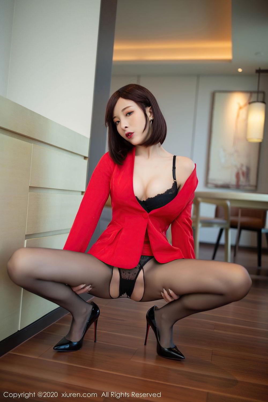 [XiuRen] Vol.2480 Chen Xiao Miao 4P, Black Silk, Chen Xiao Miao, Underwear, Xiuren