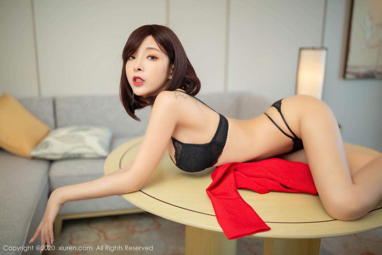 [XiuRen] Vol.2480 Chen Xiao Miao 51P, Black Silk, Chen Xiao Miao, Underwear, Xiuren