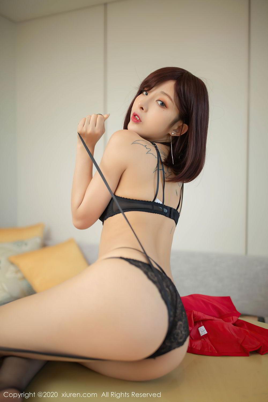 [XiuRen] Vol.2480 Chen Xiao Miao 57P, Black Silk, Chen Xiao Miao, Underwear, Xiuren