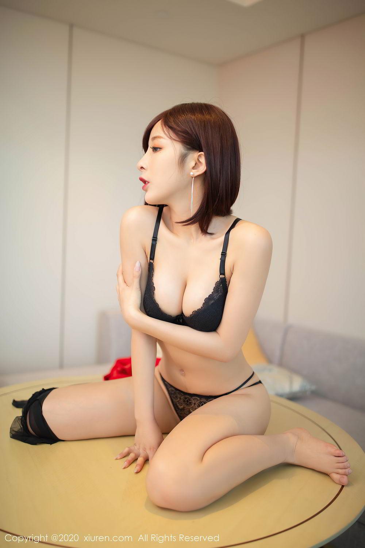 [XiuRen] Vol.2480 Chen Xiao Miao 61P, Black Silk, Chen Xiao Miao, Underwear, Xiuren