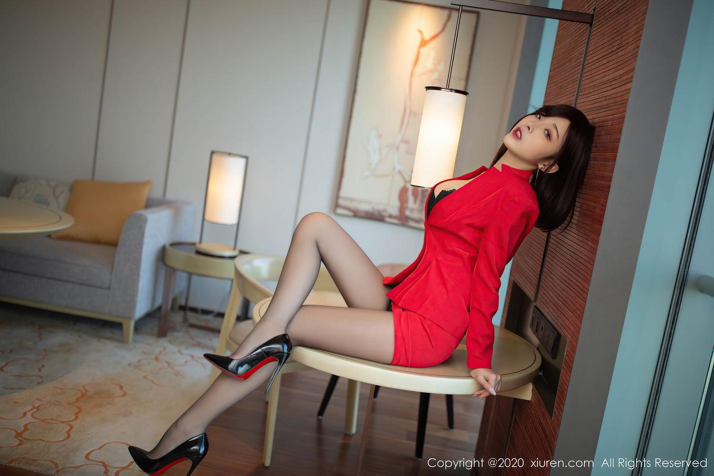 [XiuRen] Vol.2480 Chen Xiao Miao 6P, Black Silk, Chen Xiao Miao, Underwear, Xiuren