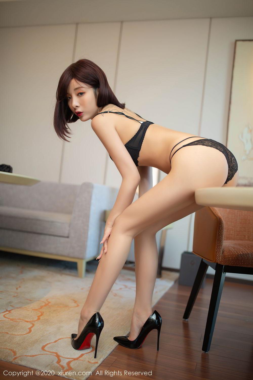 [XiuRen] Vol.2480 Chen Xiao Miao 70P, Black Silk, Chen Xiao Miao, Underwear, Xiuren