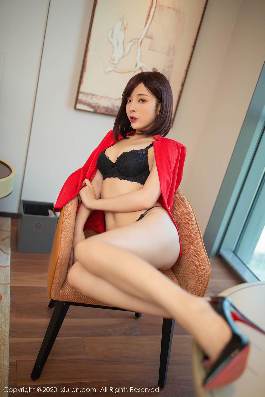 [XiuRen] Vol.2480 Chen Xiao Miao 72P, Black Silk, Chen Xiao Miao, Underwear, Xiuren