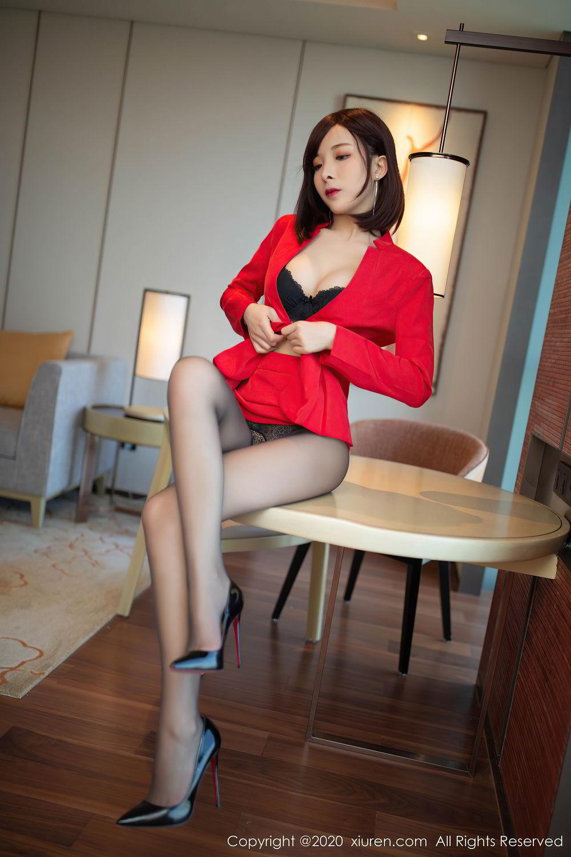 [XiuRen] Vol.2480 Chen Xiao Miao 9P, Black Silk, Chen Xiao Miao, Underwear, Xiuren
