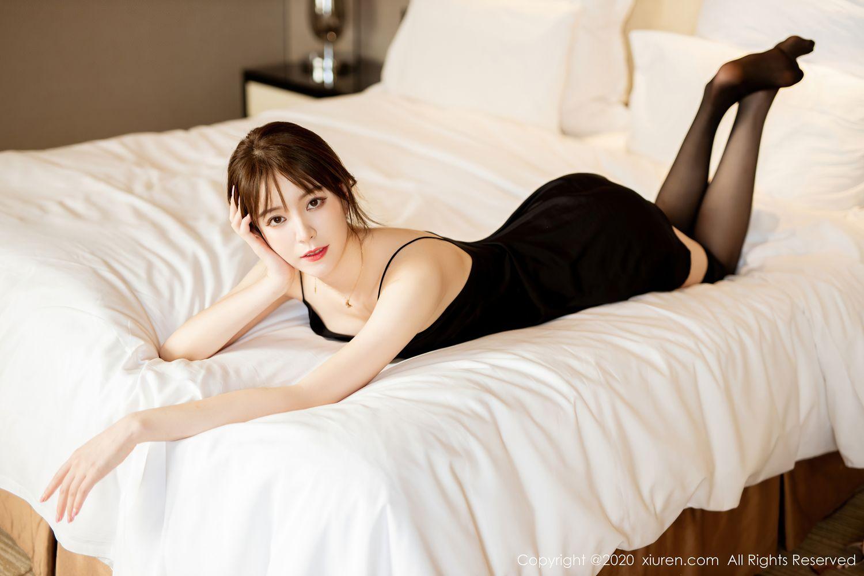 [XiuRen] Vol.2483 Yoo You You 11P, Black Silk, Tall, Xiuren, Yoo You You