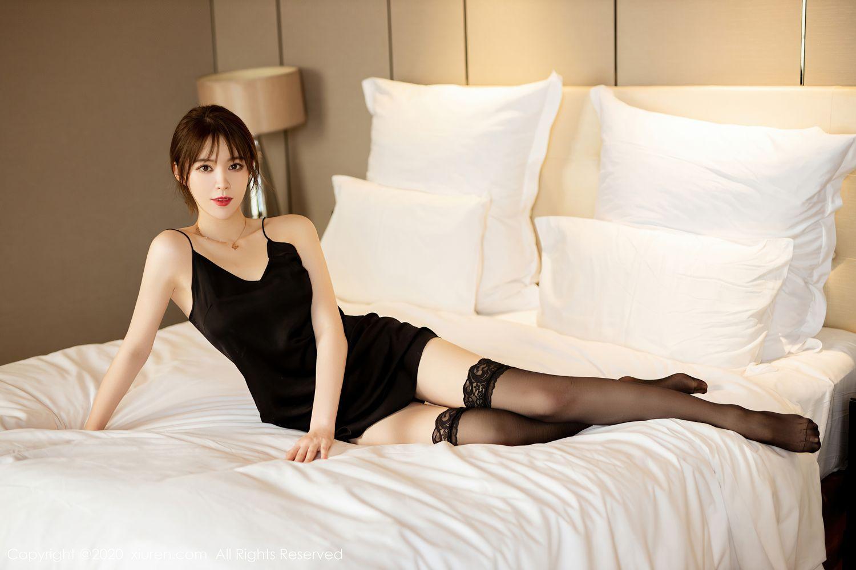 [XiuRen] Vol.2483 Yoo You You 1P, Black Silk, Tall, Xiuren, Yoo You You