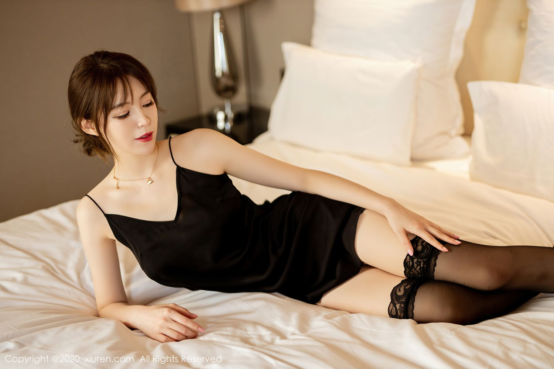[XiuRen] Vol.2483 Yoo You You 23P, Black Silk, Tall, Xiuren, Yoo You You