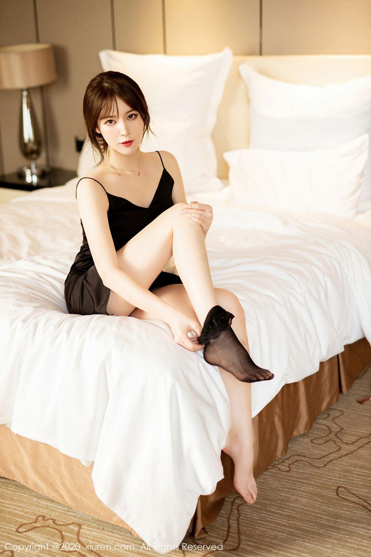 [XiuRen] Vol.2483 Yoo You You 24P, Black Silk, Tall, Xiuren, Yoo You You