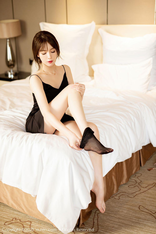 [XiuRen] Vol.2483 Yoo You You 25P, Black Silk, Tall, Xiuren, Yoo You You