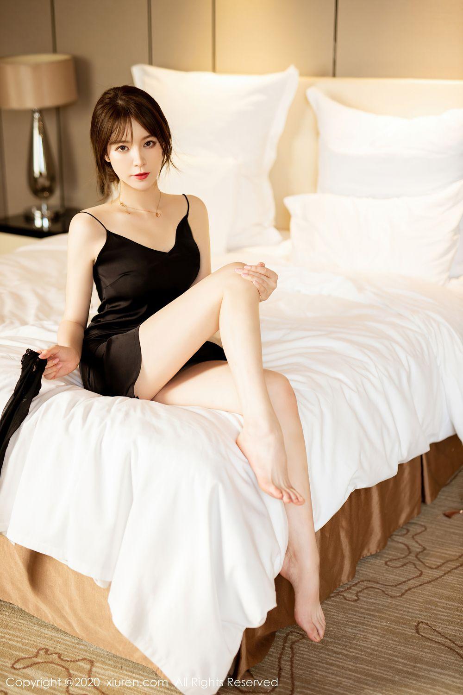 [XiuRen] Vol.2483 Yoo You You 26P, Black Silk, Tall, Xiuren, Yoo You You