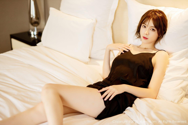 [XiuRen] Vol.2483 Yoo You You 27P, Black Silk, Tall, Xiuren, Yoo You You
