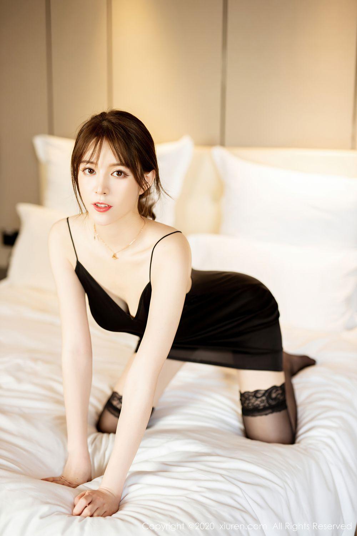 [XiuRen] Vol.2483 Yoo You You 35P, Black Silk, Tall, Xiuren, Yoo You You