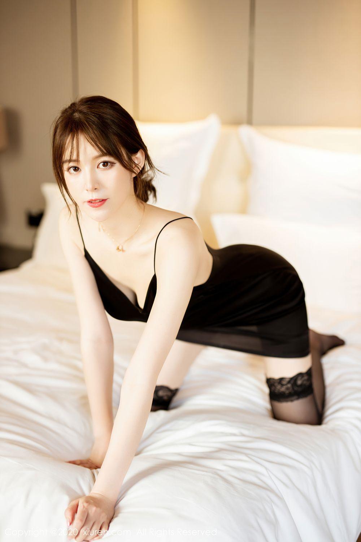 [XiuRen] Vol.2483 Yoo You You 37P, Black Silk, Tall, Xiuren, Yoo You You